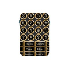 Black And Gold Buttons And Bars Depicting The Signs Of The Astrology Symbols Apple Ipad Mini Protective Soft Cases by Amaryn4rt