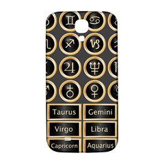 Black And Gold Buttons And Bars Depicting The Signs Of The Astrology Symbols Samsung Galaxy S4 I9500/i9505  Hardshell Back Case