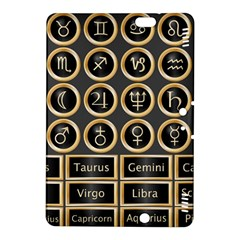 Black And Gold Buttons And Bars Depicting The Signs Of The Astrology Symbols Kindle Fire Hdx 8 9  Hardshell Case by Amaryn4rt
