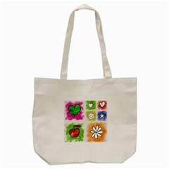 A Set Of Watercolour Icons Tote Bag (cream) by Amaryn4rt