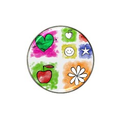 A Set Of Watercolour Icons Hat Clip Ball Marker by Amaryn4rt