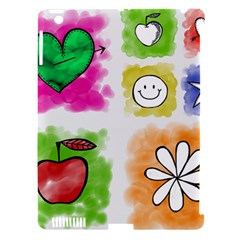 A Set Of Watercolour Icons Apple Ipad 3/4 Hardshell Case (compatible With Smart Cover) by Amaryn4rt