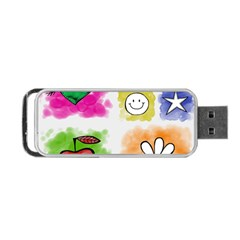 A Set Of Watercolour Icons Portable Usb Flash (two Sides) by Amaryn4rt