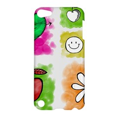 A Set Of Watercolour Icons Apple Ipod Touch 5 Hardshell Case by Amaryn4rt