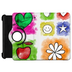 A Set Of Watercolour Icons Kindle Fire Hd 7  by Amaryn4rt