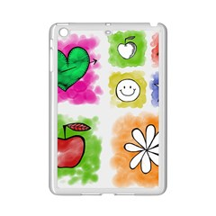 A Set Of Watercolour Icons Ipad Mini 2 Enamel Coated Cases by Amaryn4rt