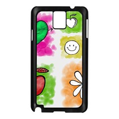 A Set Of Watercolour Icons Samsung Galaxy Note 3 N9005 Case (black) by Amaryn4rt