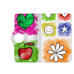 A Set Of Watercolour Icons Kindle Fire Hdx 8 9  Flip 360 Case by Amaryn4rt