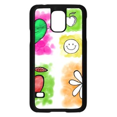 A Set Of Watercolour Icons Samsung Galaxy S5 Case (black) by Amaryn4rt