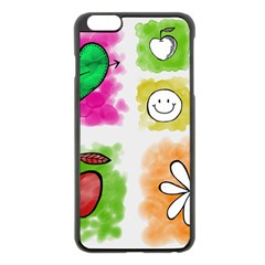 A Set Of Watercolour Icons Apple Iphone 6 Plus/6s Plus Black Enamel Case by Amaryn4rt