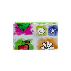 A Set Of Watercolour Icons Cosmetic Bag (xs) by Amaryn4rt