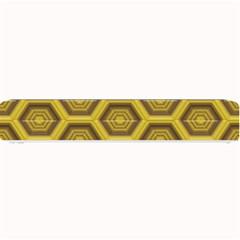 Golden 3d Hexagon Background Small Bar Mats by Amaryn4rt