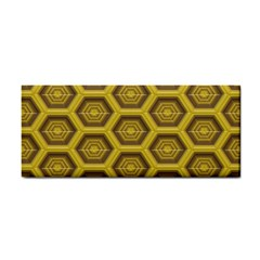 Golden 3d Hexagon Background Cosmetic Storage Cases by Amaryn4rt