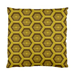 Golden 3d Hexagon Background Standard Cushion Case (two Sides) by Amaryn4rt
