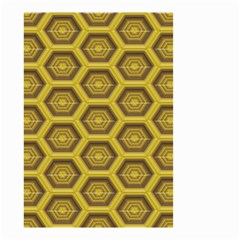 Golden 3d Hexagon Background Small Garden Flag (two Sides) by Amaryn4rt