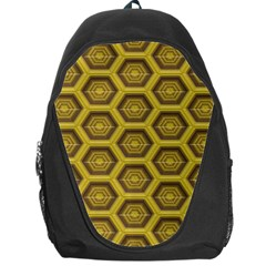 Golden 3d Hexagon Background Backpack Bag by Amaryn4rt