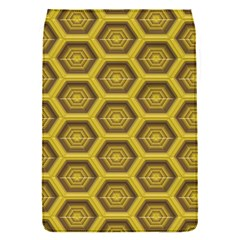 Golden 3d Hexagon Background Flap Covers (s)  by Amaryn4rt