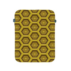 Golden 3d Hexagon Background Apple Ipad 2/3/4 Protective Soft Cases by Amaryn4rt