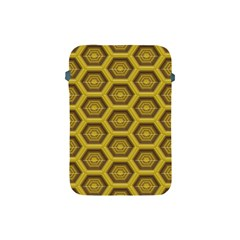 Golden 3d Hexagon Background Apple Ipad Mini Protective Soft Cases by Amaryn4rt