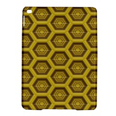 Golden 3d Hexagon Background Ipad Air 2 Hardshell Cases by Amaryn4rt