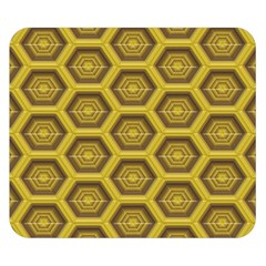 Golden 3d Hexagon Background Double Sided Flano Blanket (small)  by Amaryn4rt