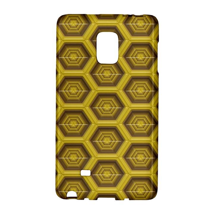 Golden 3d Hexagon Background Galaxy Note Edge