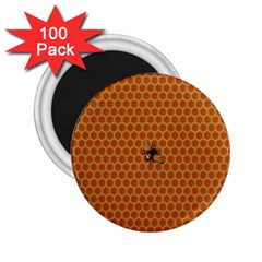 The Lonely Bee 2 25  Magnets (100 Pack)  by Amaryn4rt