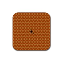 The Lonely Bee Rubber Square Coaster (4 Pack)  by Amaryn4rt