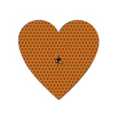 The Lonely Bee Heart Magnet by Amaryn4rt