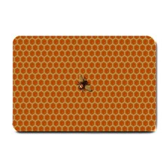 The Lonely Bee Small Doormat  by Amaryn4rt