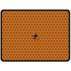 The Lonely Bee Double Sided Fleece Blanket (large)  by Amaryn4rt