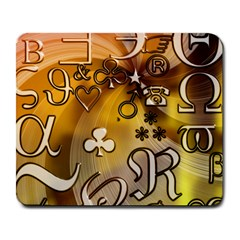 Symbols On Gradient Background Embossed Large Mousepads by Amaryn4rt