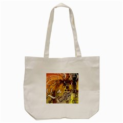 Symbols On Gradient Background Embossed Tote Bag (cream) by Amaryn4rt