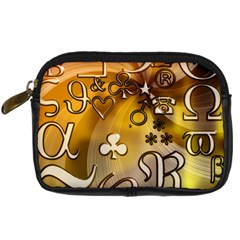 Symbols On Gradient Background Embossed Digital Camera Cases by Amaryn4rt