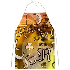 Symbols On Gradient Background Embossed Full Print Aprons by Amaryn4rt