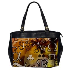 Symbols On Gradient Background Embossed Office Handbags by Amaryn4rt