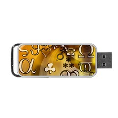 Symbols On Gradient Background Embossed Portable Usb Flash (one Side) by Amaryn4rt