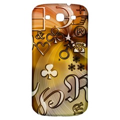 Symbols On Gradient Background Embossed Samsung Galaxy S3 S Iii Classic Hardshell Back Case by Amaryn4rt