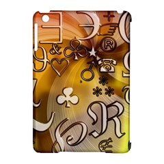 Symbols On Gradient Background Embossed Apple Ipad Mini Hardshell Case (compatible With Smart Cover) by Amaryn4rt
