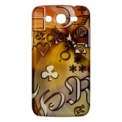 Symbols On Gradient Background Embossed Samsung Galaxy Mega 5 8 I9152 Hardshell Case  by Amaryn4rt