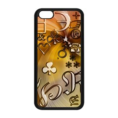 Symbols On Gradient Background Embossed Apple Iphone 5c Seamless Case (black) by Amaryn4rt