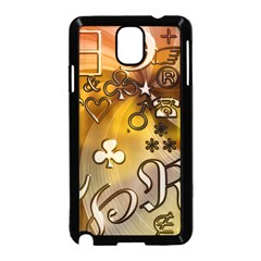 Symbols On Gradient Background Embossed Samsung Galaxy Note 3 Neo Hardshell Case (black) by Amaryn4rt