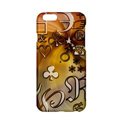 Symbols On Gradient Background Embossed Apple Iphone 6/6s Hardshell Case by Amaryn4rt