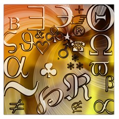 Symbols On Gradient Background Embossed Large Satin Scarf (square)
