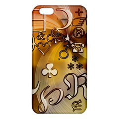 Symbols On Gradient Background Embossed Iphone 6 Plus/6s Plus Tpu Case by Amaryn4rt