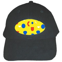 Circle Triangle Red Blue Yellow White Sign Black Cap by Alisyart