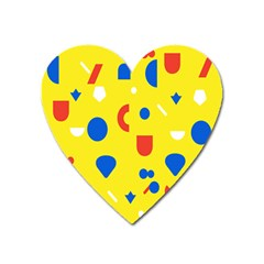 Circle Triangle Red Blue Yellow White Sign Heart Magnet by Alisyart