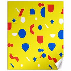 Circle Triangle Red Blue Yellow White Sign Canvas 16  X 20   by Alisyart