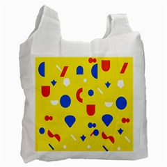 Circle Triangle Red Blue Yellow White Sign Recycle Bag (one Side) by Alisyart