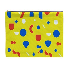 Circle Triangle Red Blue Yellow White Sign Cosmetic Bag (xl) by Alisyart